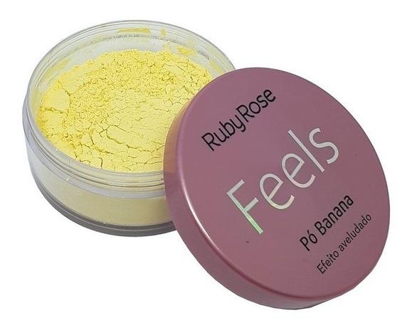 Pó de Banana Efeito Aveludado Feels Ruby Rose HB850
