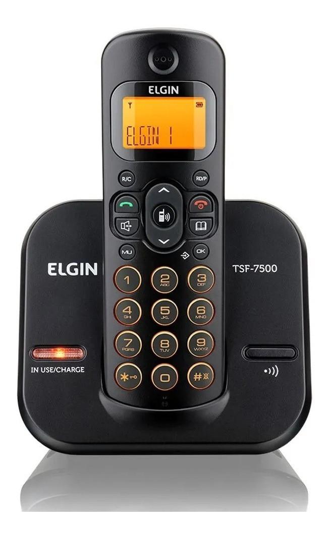 Telefone Sem Fio Elgin Tsf 7500 Preto