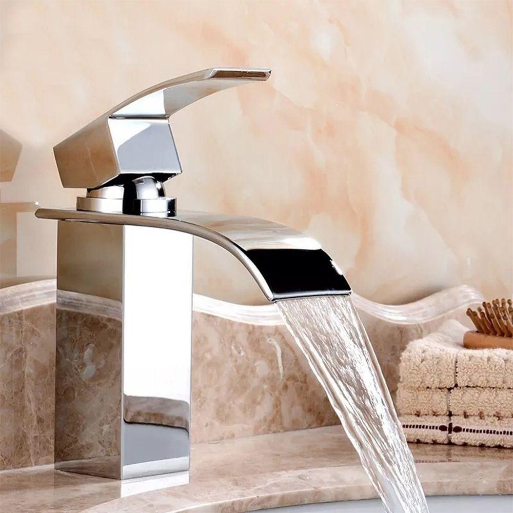 Torneira Cascata Banheiro Misturador Monocomando Baixa