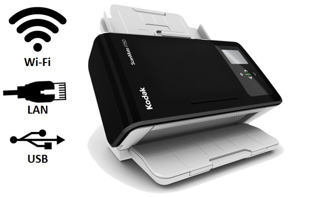 Scanner Rede A4  Kodak ScanMate i1150WN + 36 meses de garantia On Site