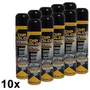 KIT 10 DIP COLOR PRETO BRILHANTE ENVELOPAMENTO LIQUIDO 400ML