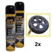 KIT 2 DIP COLOR PRETO BRILHANTE ENVELOPAMENTO LIQUIDO 400ML