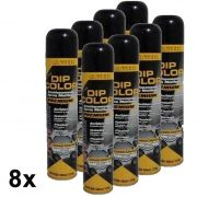 KIT 8 DIP COLOR PRETO BRILHANTE ENVELOPAMENTO LIQUIDO 400ML