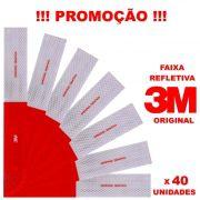 KIT FAIXA REFLETIVA 3M ORIGINAL - 40 UNIDADES