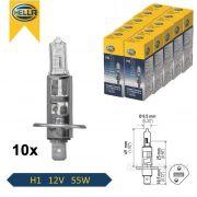 LAMPADA H1 12V 55W ORIGINAL HELLA - 10 UNIDADES
