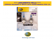 LÂMPADA HALÓGENA H1 WHITE LIGHT (SUPER BRANCA)  55W  12V - 100% ORIGINAL HELLA