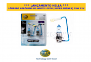 LÂMPADA HALÓGENA H3 WHITE LIGHT (SUPER BRANCA)  55W  12V - 100% ORIGINAL HELLA