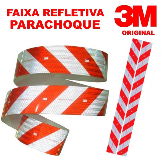 FAIXA REFLETIVA PARACHOQUE 3M ORIGINAL 2,40MT