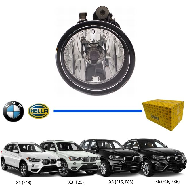 FAROL AUXILIAR DE NEBLINA MILHA BMW X1 X2 X3 X5 X6 HALOGENO ORIGINAL