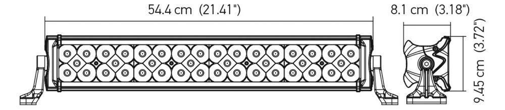 FAROL AUXILIAR BARRA DE LED HELLA ORIGINAL PRO SERIES 21'' - 40 LEDS 5500K 5500 LUMENS 12V 24V BIVOLT