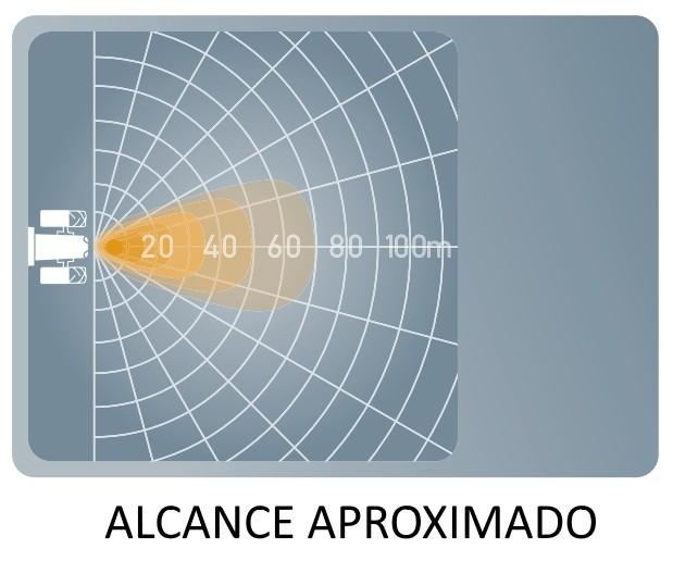 FAROL MILHA AUXILIAR LED LONGO ALCANCE REDONDO 2.0 VALUEFIT 5RD 2000 LUMENS 12V 24V BIVOLT ORIGINAL HELLA