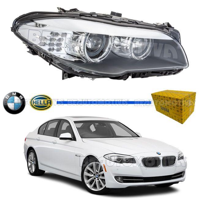 FAROL PRINCIPAL BMW SERIE 5 COM SETA COLMEIA - 523I / 528I / 535I / 550I / M5 - 2013 2014 2015 2016 - ORIGINAL (LADO DIREITO)