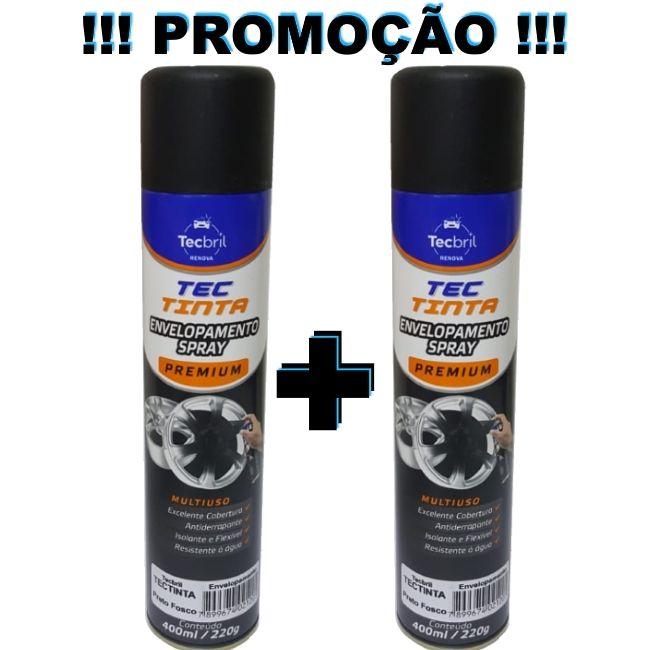 KIT 2 - PLASTI DIP COLOR PRETO FOSCO TINTA ENVELOPAMENTO LIQUIDO 400ML ORIGINAL