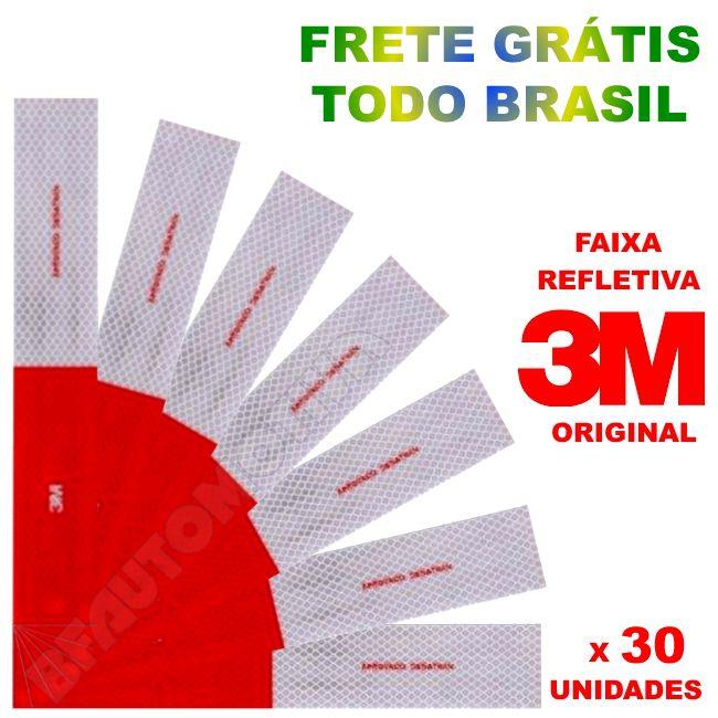 KIT FAIXA REFLETIVA 3M ORIGINAL - 30 UNIDADES