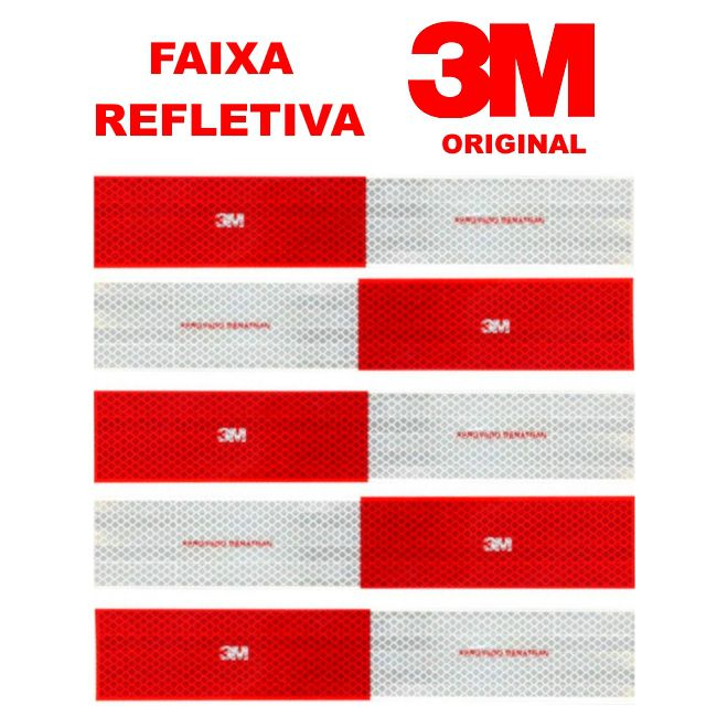 KIT FAIXA REFLETIVA 3M ORIGINAL - 50 UNIDADES
