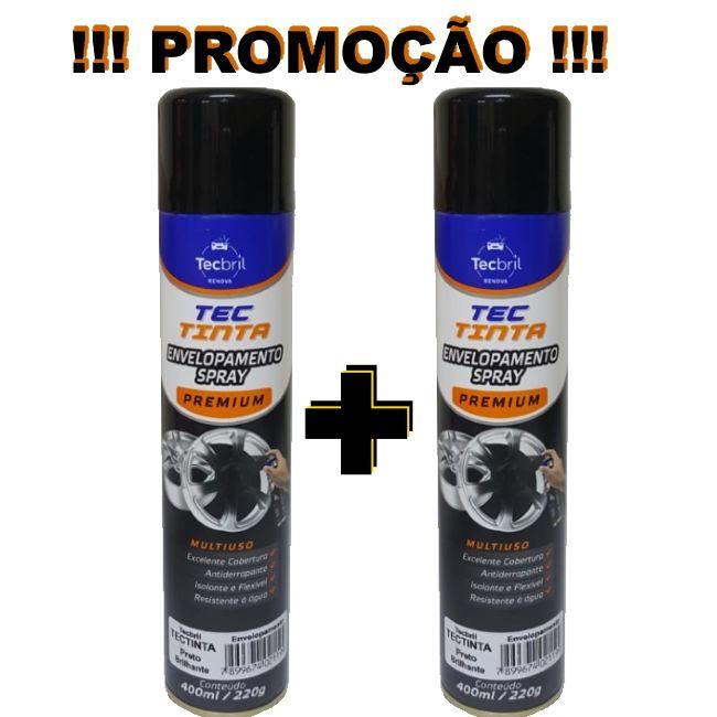 KIT DIP COLOR PRETO BRILHANTE ENVELOPAMENTO LIQUIDO 400ML - 2 UNIDADES