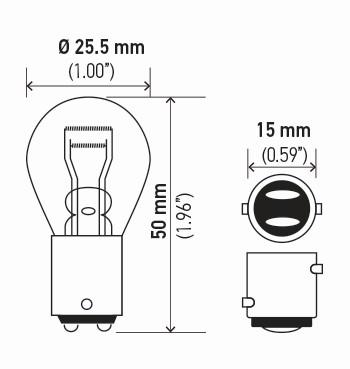 LAMPADA 12V 15W 1 POLO 1141