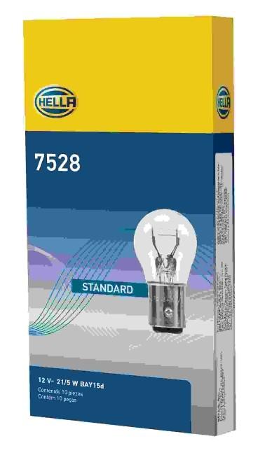 LAMPADA 2 POLOS 1034 P21/5W 12V PINO DESENCONTRADO ORIGINAL HELLA