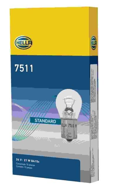 LAMPADA 1141 24V P21W 21W 1 POLO 7511 ORIGINAL HELLA