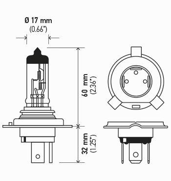 LAMPADA H4 12V 60/55W ORIGINAL HELLA