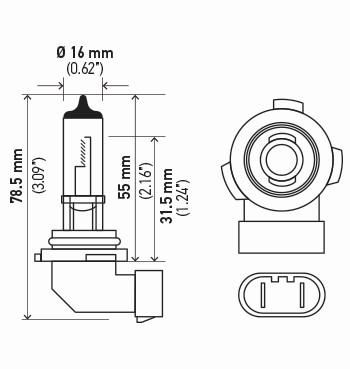 LAMPADA H10 12V 45W