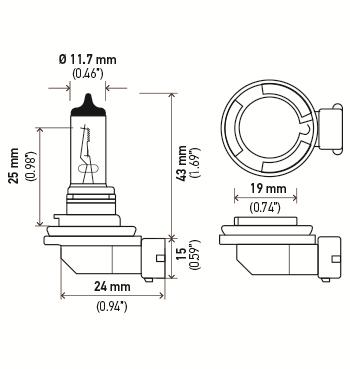LAMPADA H11 12V 55W