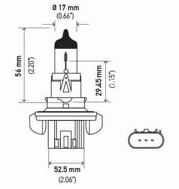 LAMPADA H13 12V 60 / 55W