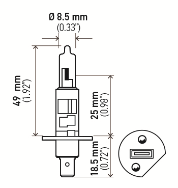 LAMPADA H1 12V 55W ORIGINAL HELLA - 2 UNIDADES