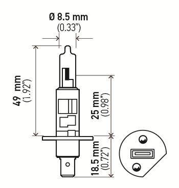 LÂMPADA H1 24V 70W ORIGINAL HELLA - 2 UNIDADES