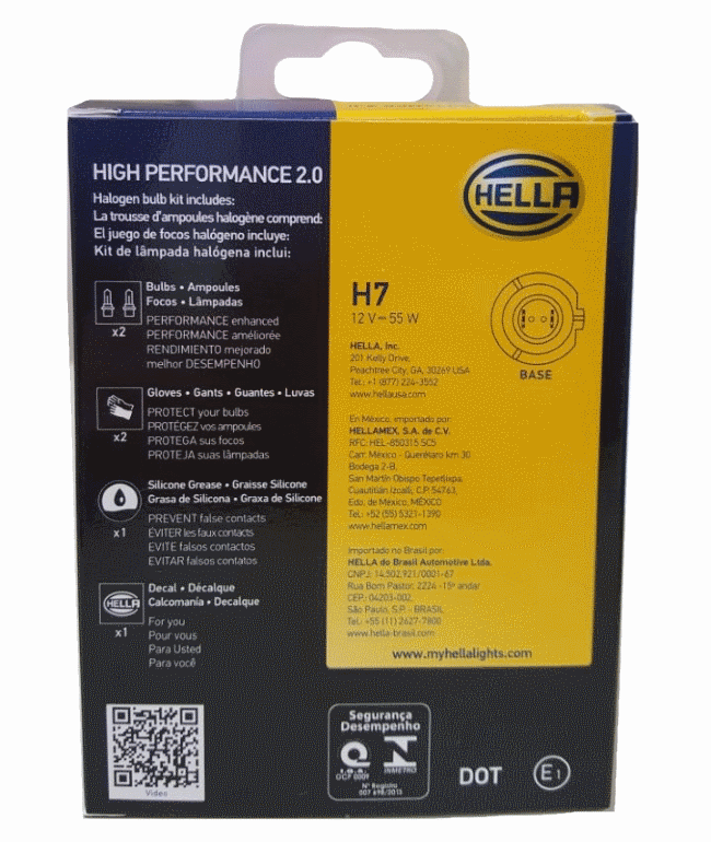 LAMPADA H7 12V 55W HP 2.0 ALTA PERFORMANCE