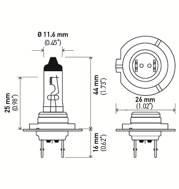 LAMPADA H7 24V 70W ORIGINAL HELLA - 2 UNIDADES
