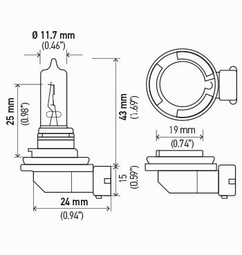 LAMPADA H9 12V 65W