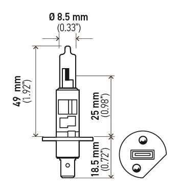 LAMPADA IODO H1 12V 55W (LONG LIFE)