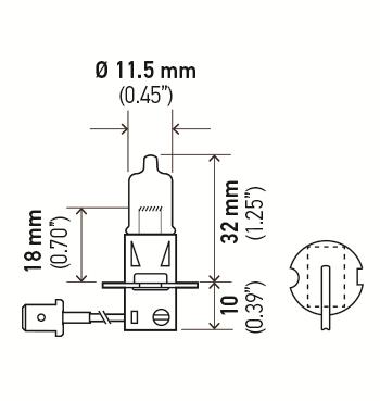 LAMPADA IODO H3 12V 55W