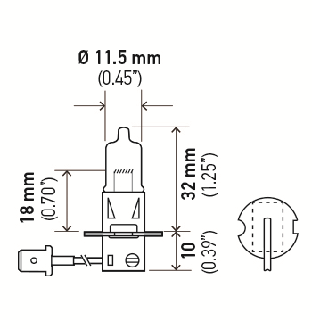 LAMPADA H3 24V 70W ORIGINAL HELLA