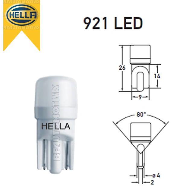 LAMPADA LED 6500K SUPER BRANCA 12V - PINGO PINGUINHO PINGÃO ESMAGADA W2W W3W W5W T10 - PAR - ORIGINAL HELLA