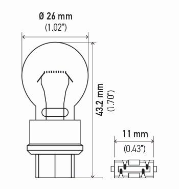 LAMPADA S8 12V 27/7W (P27/7W)