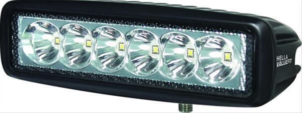 PAR DE FAROL MILHA AUXILIAR MINI BARRA DE LED - 6 LEDS - 6000 K - 1000 LUMENS - 12V 24V - HELLA ORIGINAL