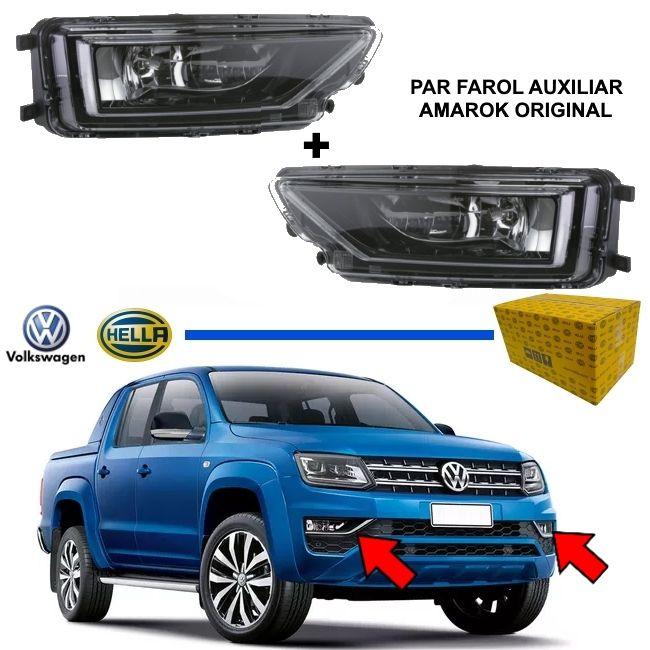PAR FAROL AUXILIAR MILHA VW AMAROK 2016 2017 2018 2019 2020 ORIGINAL