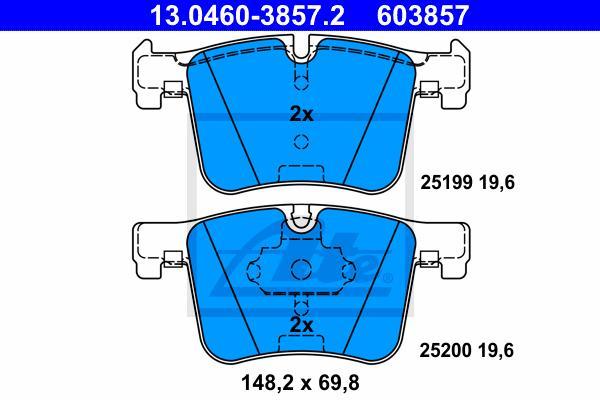 PASTILHA DE FREIO DIANTEIRA BMW SERIE 1 F20 2012 A 2017 - SERIE 3 F30 F80 2012 A 2017 - SERIE 4 F32 F33 F36 F82 F83 2013 A 2017 - X3 F25 2012 A 2017 - X4 F26 2013 A 2017 - ORIGINAL