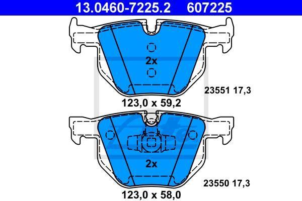 PASTILHA DE FREIO TRASEIRA BMW SERIE 3 E90 2006 A 2010 - SERIE 3 CONVERSIVEL E93 2007 A 2013 - X1 E84 2010 A 2015 - ORIGINAL