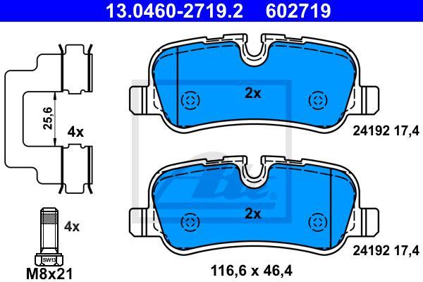 PASTILHA DE FREIO TRASEIRA LAND ROVER DISCOVERY III L319 2004 A 2009 - RANGE ROVER L322 2002 A 2012 - RANGE ROVER SPORT L320 2005 A 2009 - ORIGINAL