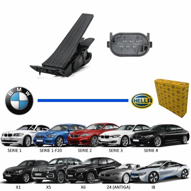 PEDAL DO ACELERADOR ELETRONICO BMW SERIE 1 / SERIE 2 / SERIE 3 / SERIE 4 / X1 / X5 / X6 / Z4 / I8 - SENSOR - ORIGINAL