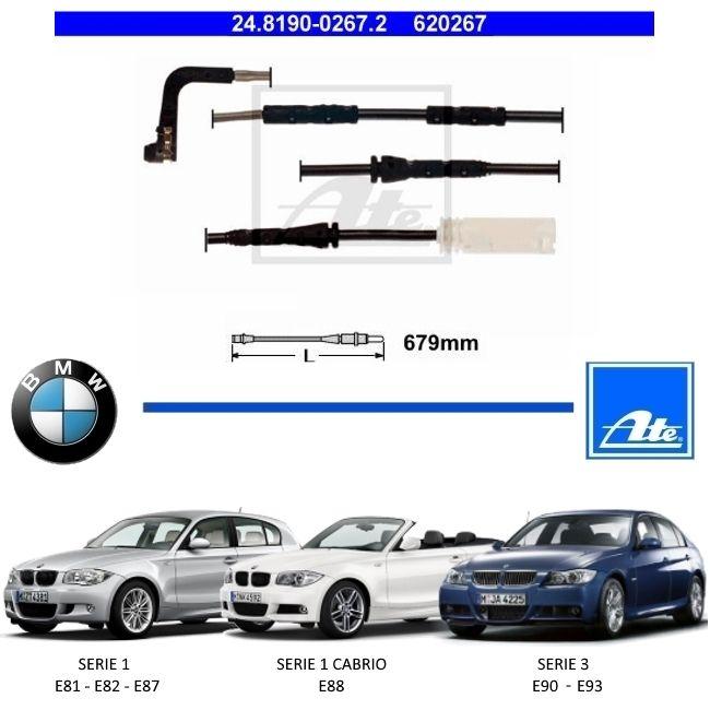 SENSOR DESGASTE PASTILHA DE FREIO DIANTEIRA BMW SERIE 1 E81 E82 E87 2007 A 2011 - SERIE 1 CABRIO E88 2008 A 2013 - SERIE 3 E90 E93 2007 A 2011 - ORIGINAL