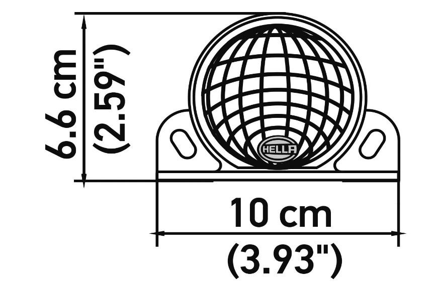 SIRENE ALARME DE MARCHA A RÉ UNIVERSAL - 12V 24V - 110DB - ORIGINAL HELLA