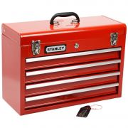 Caixa Gabinete de Ferramentas com 4 Gavetas (Stanley 95-604L)   520x218x357mm