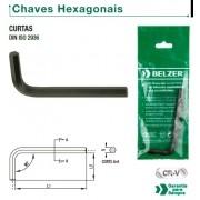 "Chave Allen (Hexagonal) ""L"" Curta de 03,0 mm (BELZER 220017BR)"