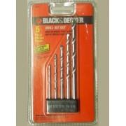 Jogo 5 Brocas para Concreto (Black&Decker 16862E)