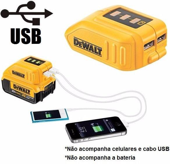 ADAPTADOR USB P/BAT.LI ION 12/20V MAX (DCB090-B3)