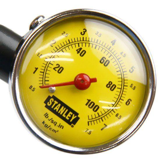 Calibrador de Pressão de Pneus tipo Relógio (Stanley 79-052)